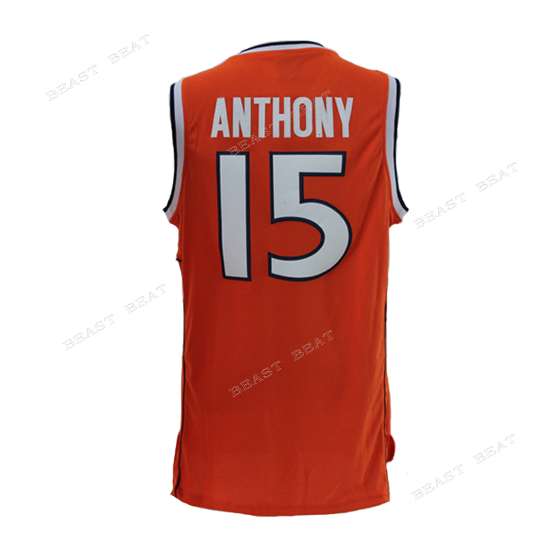 b6e668186fd ... ncaa basketball jerseys syracuse orange 15 carmelo anthony orange  basketball throwback jerseys