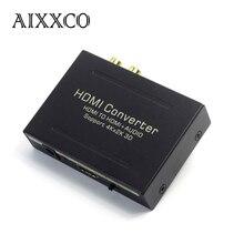 Aixxco hdmi zu hdmi splitter audio extractor konverter optische toslink spdif + rca l/r stereo analog-wandler unterstützung 4 karat x 2 karat