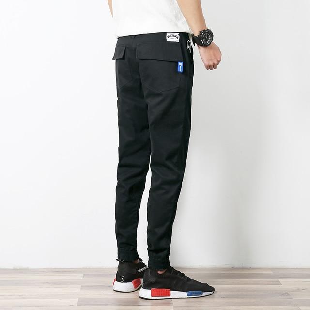 Новая Мода 2016 Slim Fit Мужчины Хлопок Многоцветный Повседневная Карандаш брюки Мужские Карманные мужские Длинные Брюки Черный Хаки Плюс Размер 5XL