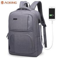 Aoking 2017 External USB Charge Nylon Men Backpack Waterproof Travel Backpack Men Rucksack Mochila Laptop Bag