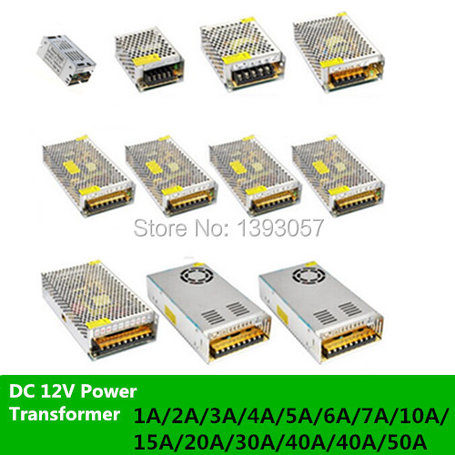 Dc 12v Power Transformer For Led Strip Lignting Lights & Lighting Ac 100-240v Input To Dc 12v 1a,2a,3a,4a,5a,6a,7a,10a,15a,20a,30a,40a,50a Led Strips