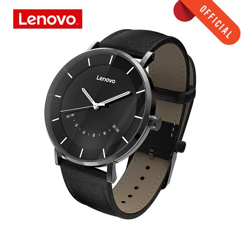 Lenovo relógio inteligente moda quartzo relógios relógio s inteligente lembrete 50 m à prova dwaterproof água longa vida da bateria esportes smartwatch