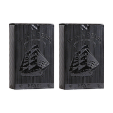 Waterproof Plastic Playing Cards Double set-Black 04 Collection Diamond golden Poker Cards Creative Gift promotion Playing Card