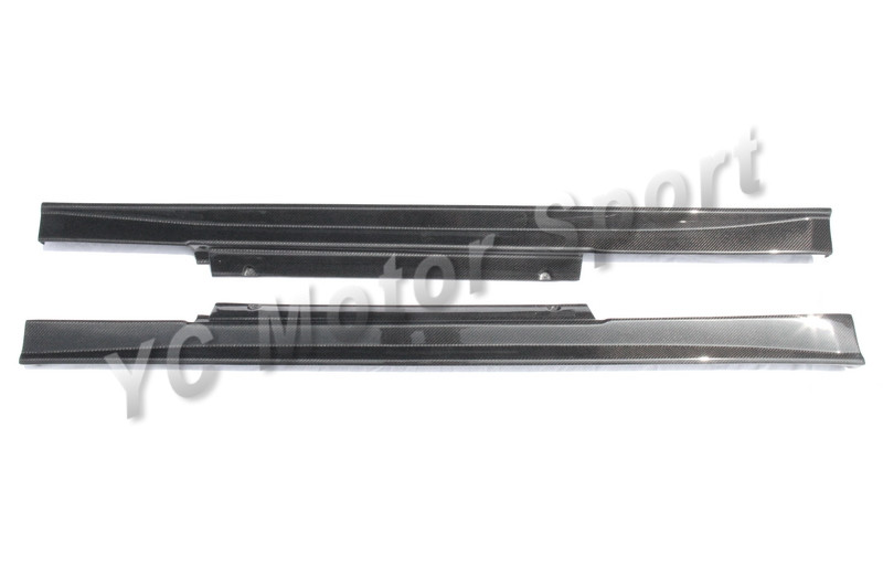 Car Accessories Carbon Fiber Zele- P Style Side Skirt Fit For - Auto Replacement Parts - Photo 2