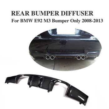 Carbon Fiber Auto car Rear Bumper Lip Diffuser For for BMW E92 M3 2008 - 2013 Convertible Add On Style image