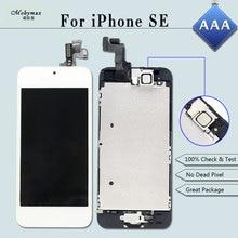 Получить скидку Полное собрание Замена для iPhone SE A1723 A1662 ЖК-дисплей Экран модуль сенсорный дигитайзер Дисплей + Главная Кнопка + Фронтальная камера + пленка