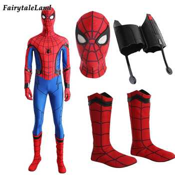 Spiderman cosplay costume adult Halloween costumes custom made Spider-Man Homecoming costume Spandex Spiderman  jumpsuit - DISCOUNT ITEM  0% OFF All Category