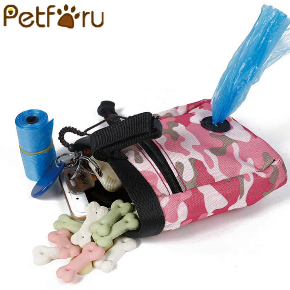 Petforu Durable Pet Dog Backpack Waterproof Snack Bag Pet Waist Bag For Outdoor Training Pet Carrier Pouch