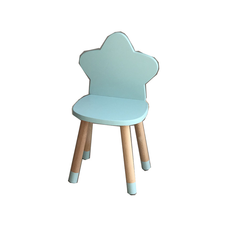 INS Northern Europe Wind Wooden Child Desk Chair For Children Room Decoration Children Furniture Small Study Chair  Hot Sale