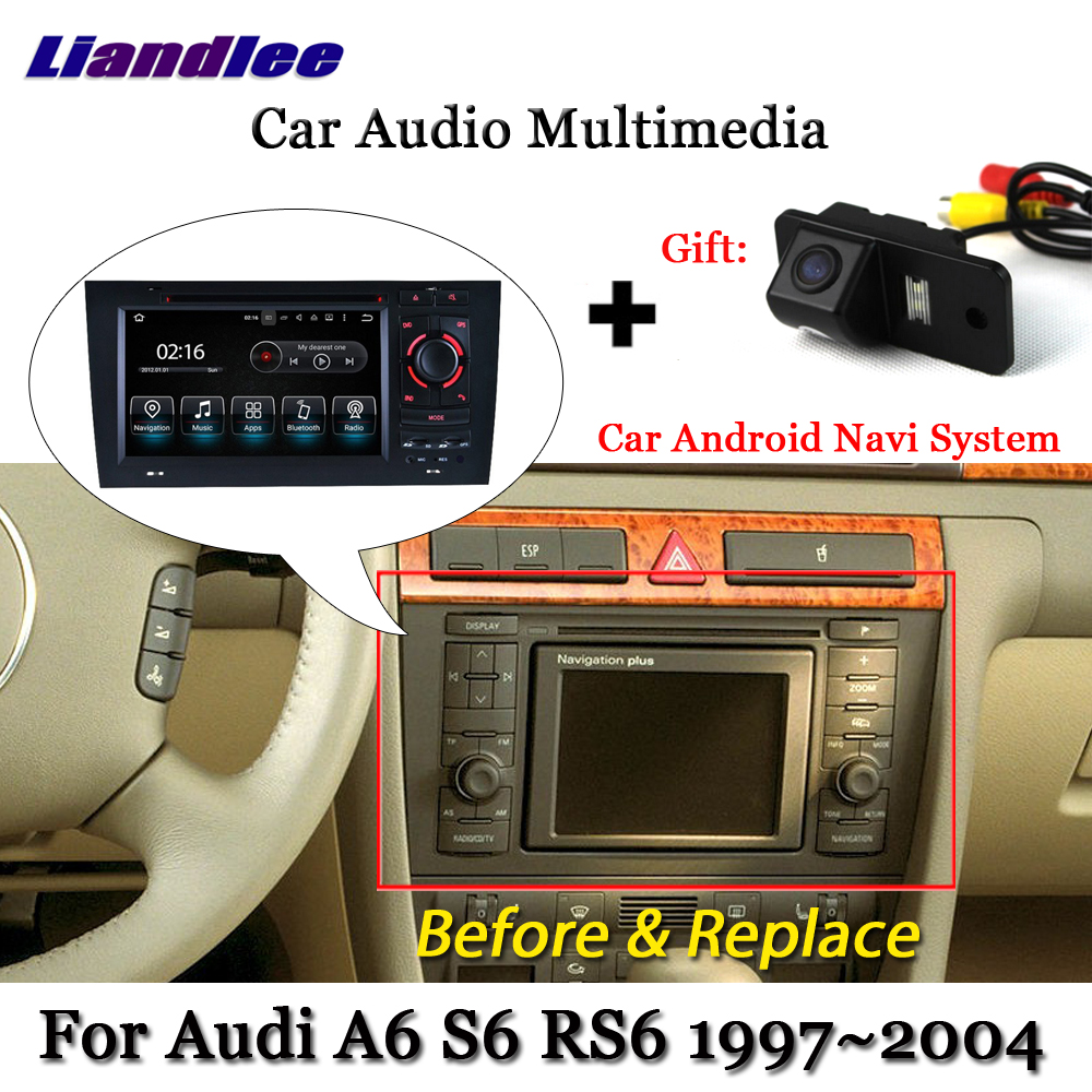 Liandlee Car <font><b>Android</b></font> System For <font><b>Audi</b></font> <font><b>A6</b></font> S6 RS6 C5 1997~<font><b>2004</b></font> Radio DVD TV Carplay Camera GPS Navi Navigation BT Screen Multimedia image