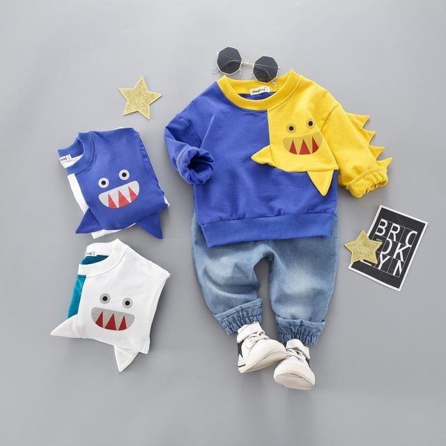 Baby Boy's Warm Cotton Letters Printed Suit