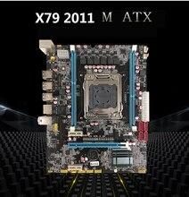 New Desktop Motherboard  X79D E5 VER:3.3A  X79 LGA 2011 DDR3  All-Solid M ATX mainboard