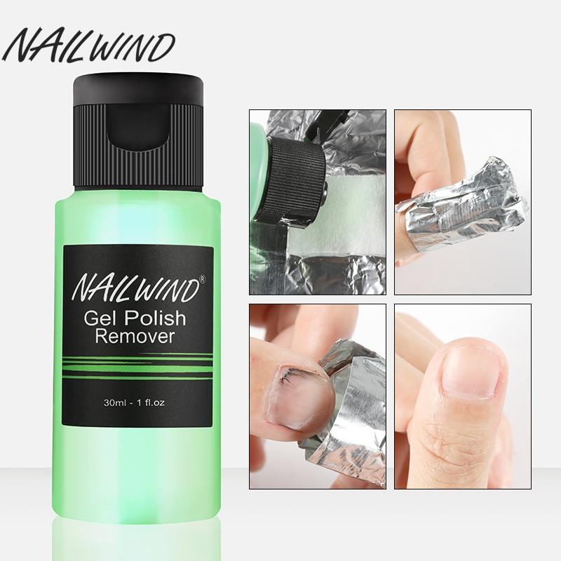 NAILWIND 1PCS 30ml Cleanser UV Nail Polish Removes Excess Gel Enhance Shine Sticky Bottle Nail Art Manicure Gel Soak off Remover