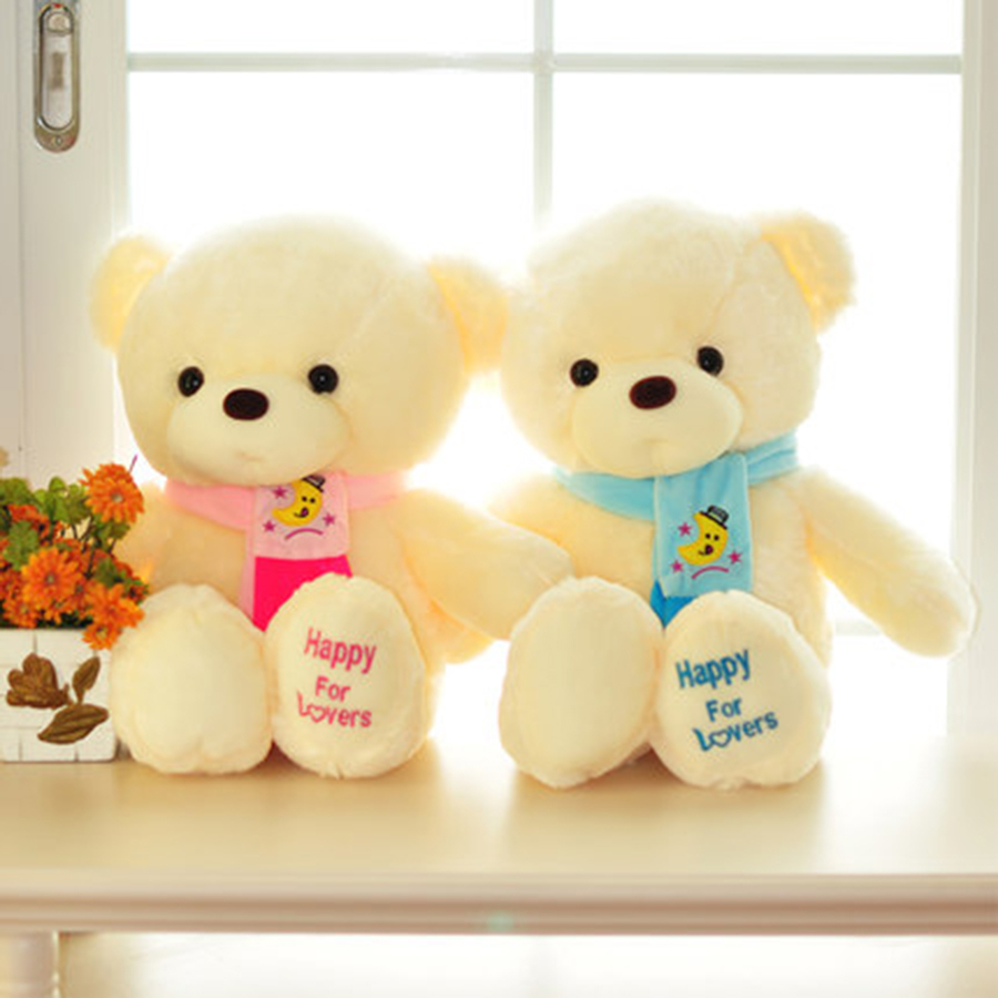 Kawaii Teddy Bear Stuffed Toys Stuffed Animal Bear Girls Gifts Birthday Wedding Couple Plush Cute Soft Toy Animals 70C0380 2pcs pair lovely couple teddy bear with cloth dress plush toy stuffed baby doll girls