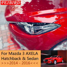 Яркие передние фары лампы век бровей полосы крышка комплект отделка Аксессуары для Mazda 3 AXELA хэтчбек седан