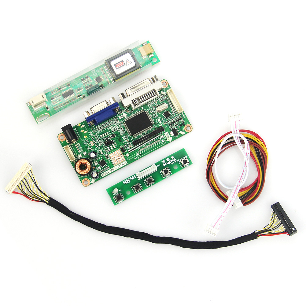 LCD/LED Control Driver Board VGA For LP154W01-A1  N154I3-L03 VGA+DVI  1280x800 LVDS Monitor Reuse Laptop