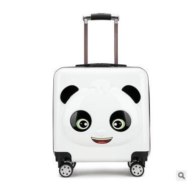 Panda dzieciak podróży bagażu walizka na kółkach torby na kółkach dla dzieci wheeled carry on bagaż Spinner dzieci toczenia walizka dla chłopca w Walizka na kółkach od Bagaże i torby na  Grupa 1