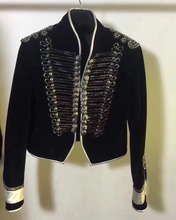 2017 new luxury jacket women velvet beading jacket coat