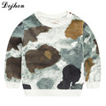 2017 Kids Boys Girls Clothes Camouflage Tees Long Sleeve Fashion Kids Clothing Children Cotton Toddler Casual T shirts tees