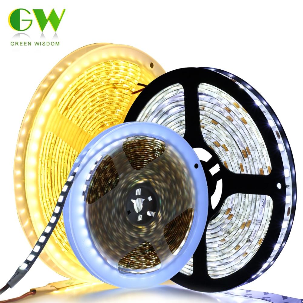 LED Strip Light DC12V 5054 Flexible Waterproof Diode Tape 60LEDs/m 120LEDs/m Brighter Than 5050 3528 RGB 12V LED Ribbon 5M/Lot