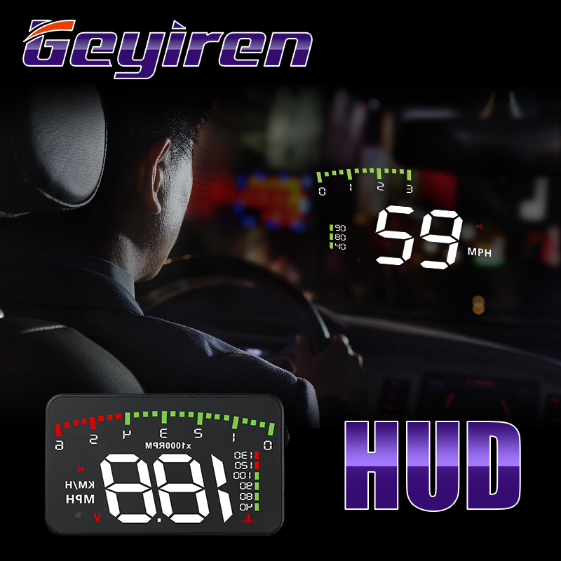 GEYIREN HUD Car A900 OBD2 Head Up Display Speed RPM Water Temperature Car Electronics Hud Obd2 Display Overspeed Head Up Display