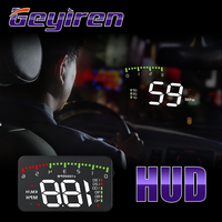 GEYIREN HUD Car A900 OBD2 Head Up Display Speed RPM Water Temperature Car Electronics hud obd2 display Overspeed Head Up Display