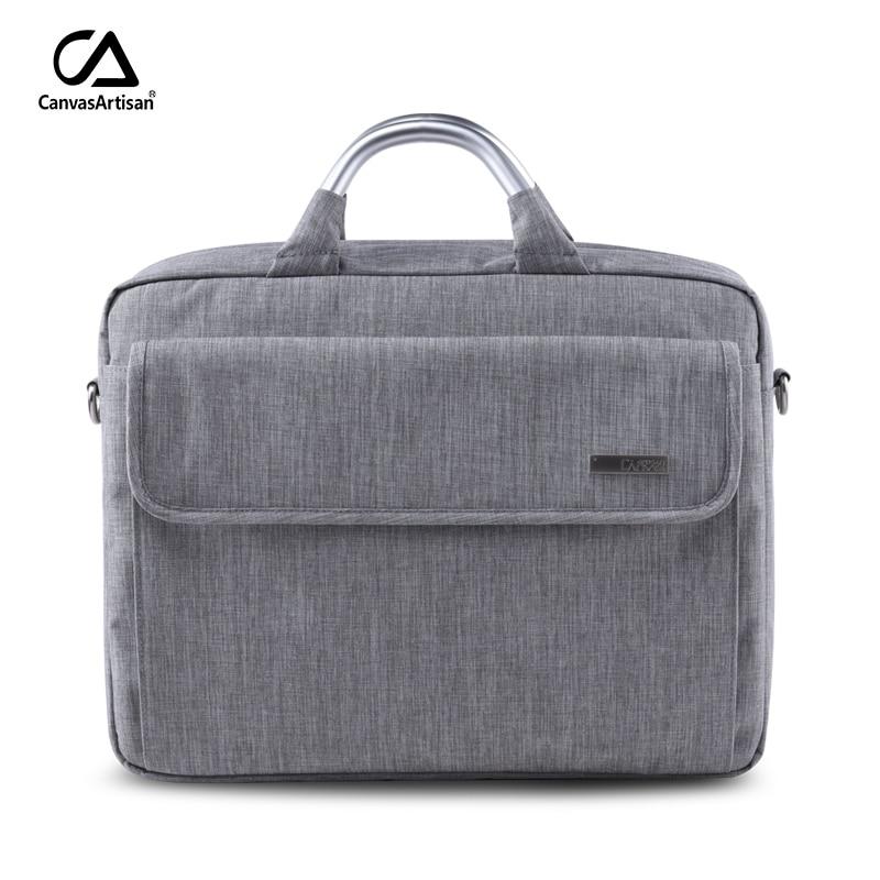 ФОТО Canvasartisan 2017 Brand New 15.6 inch Laptop Shoulder Handbag Men Computer Bags Waterproof Briefcases Notebook Bags Unisex