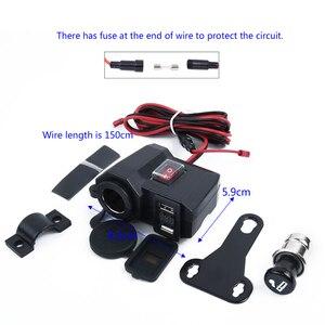 Image 5 - Wasserdicht 12V Motorrad Dual USB Ladegerät Zigarre Leichter Buchse W/LED Voltmeter zubehör teile für motorräder