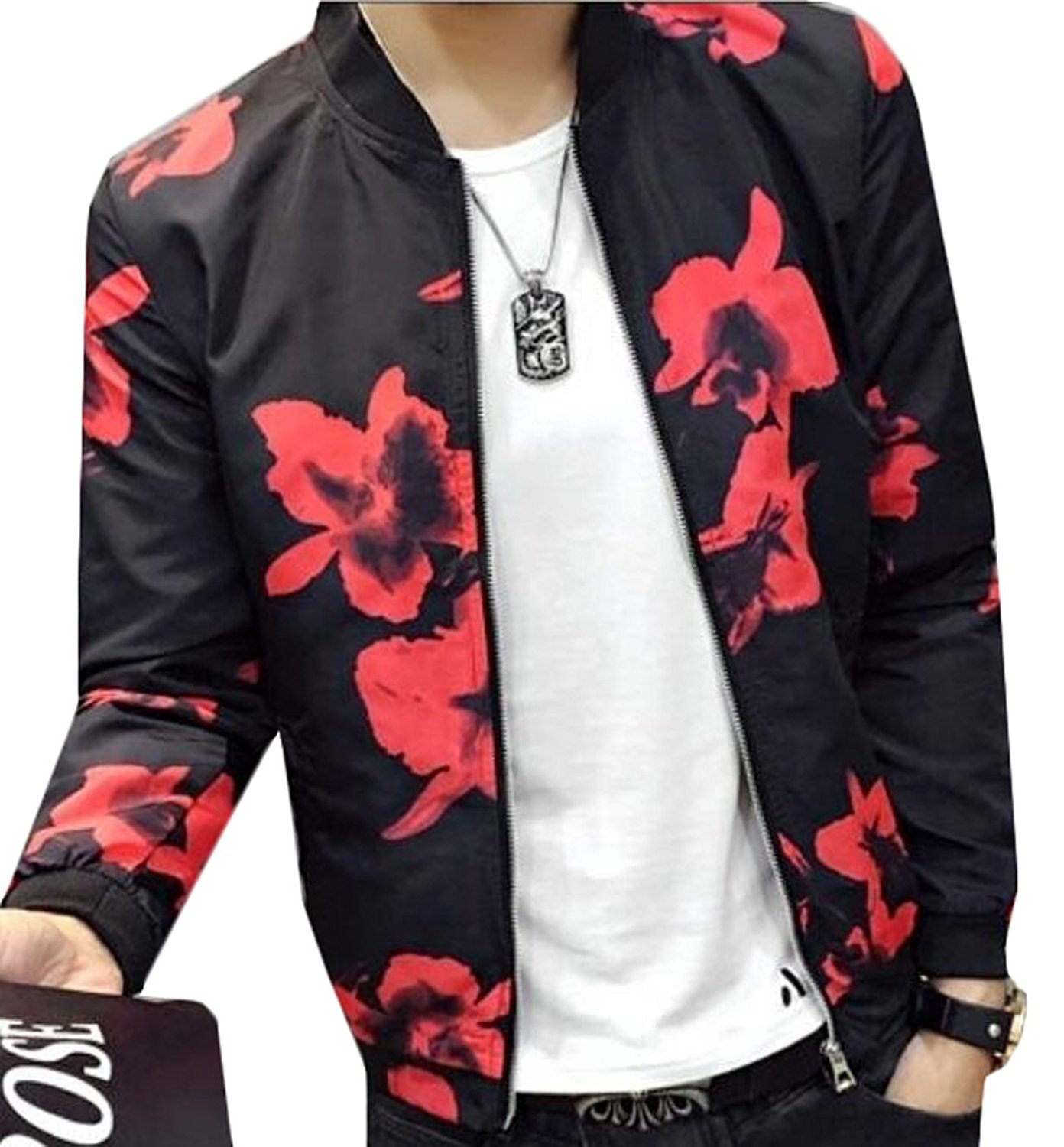 Aliexpress.com : Buy YLnini Mens Korean Printed Baseball Bomber ...