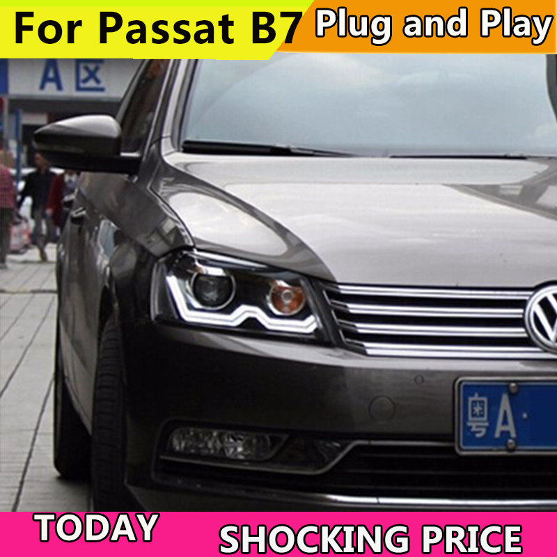 Car Styling Head Lamp for VW Passat B7 led headlights 2012-2015 Europe Version Passat headlight HID Bi-Xenon Lens low beam LD 2V кеды hcs page 3