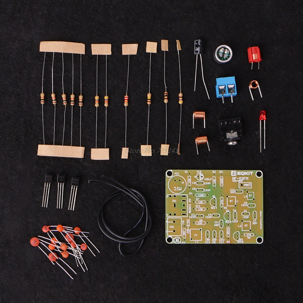 Fm Wireless Microphone Suite Radio Transmitter Diy 15 9v 76 Circuit Wiring Diagrams Kit 88 108mhz Frequency Modulation Suit