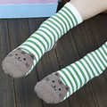 Luck dog 3D Animals Striped Cartoon Socks Women Cat Footprints Cotton Socks Floor wwg