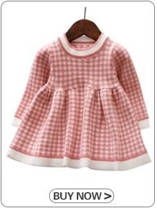 HTB1A1lfXtzvK1RkSnfoq6zMwVXau Girls Knitted Dress 2019 autumn winter Clothes Lattice Kids Toddler baby dress for girl princess Cotton warm Christmas Dresses