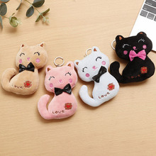 NEW Cat Plush Animal Stuffed Kitty Cat Key chain TOY Kid's Party Plush toy Bouquet Plush Dolls(China)