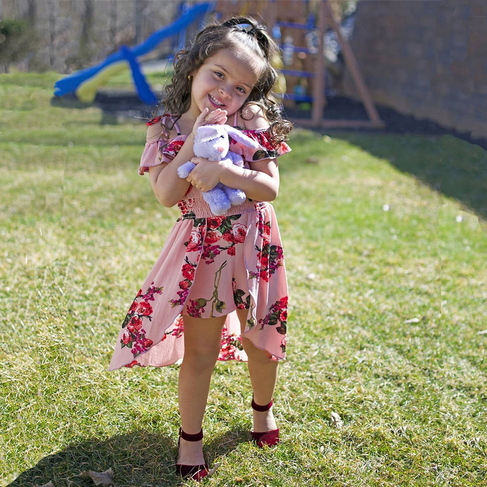 US Sweet Toddler Kid Baby Girl Tutu Dress Party Princess Dresses Sundress 6M-5Y