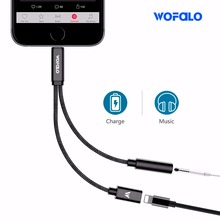 aux splitter 2 in 1 double lightn to headphone  3.5mm splitter adapter charge and headphone audio for iphone 7  8 plus iphone X