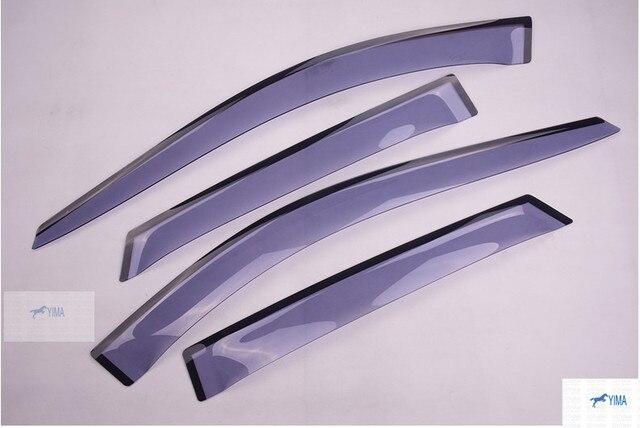 Accesorios de moda Para Cadillac SRX 2012-2014 Ventana Toldos Viseras Deflector de Viento Lluvia Visera Guardia Vent 4 unids/set