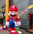 3 m H popular inflável blow up artigo Mario para a publicidade e promoção com ventilador de ar livre