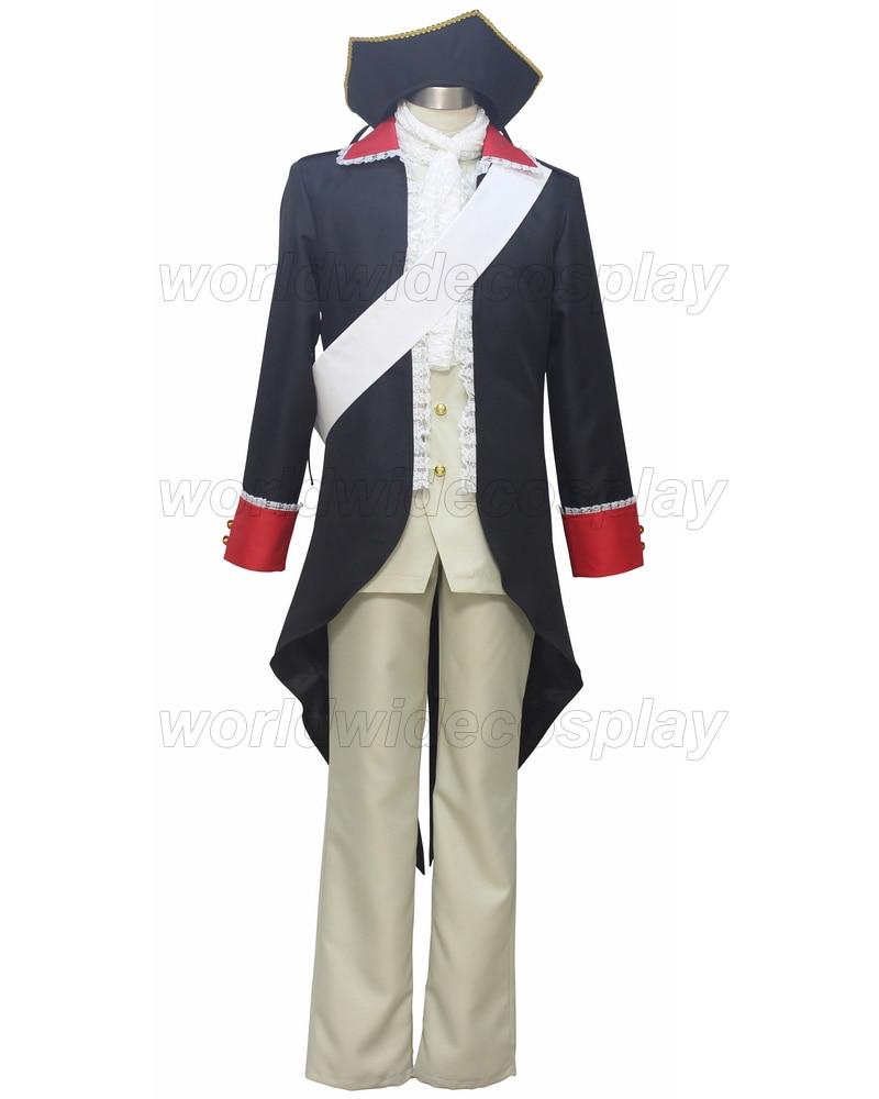 Axis Powers Hetalia Prussia Cosplay kostým Doprava zdarma Vyrobeno pro Halloween a Vánoce
