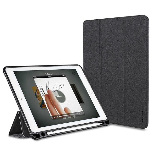 Ivapo para ipad pro 9.7 case couro pu magro virar folio smart cover com suporte para apple lápis lápis stand auto sleep/wake