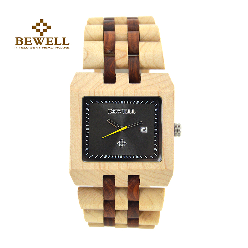 BEWELL Men's Watch Natural Wood Watch Manual Luxury Brand Automatic Date Function Indicator Display Watch Gift Fashion 017A все цены