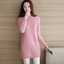 Semi solid sweaters girls long sleeve head Polo neck long sleeved shirt all-match warm autumn ladies sweaters
