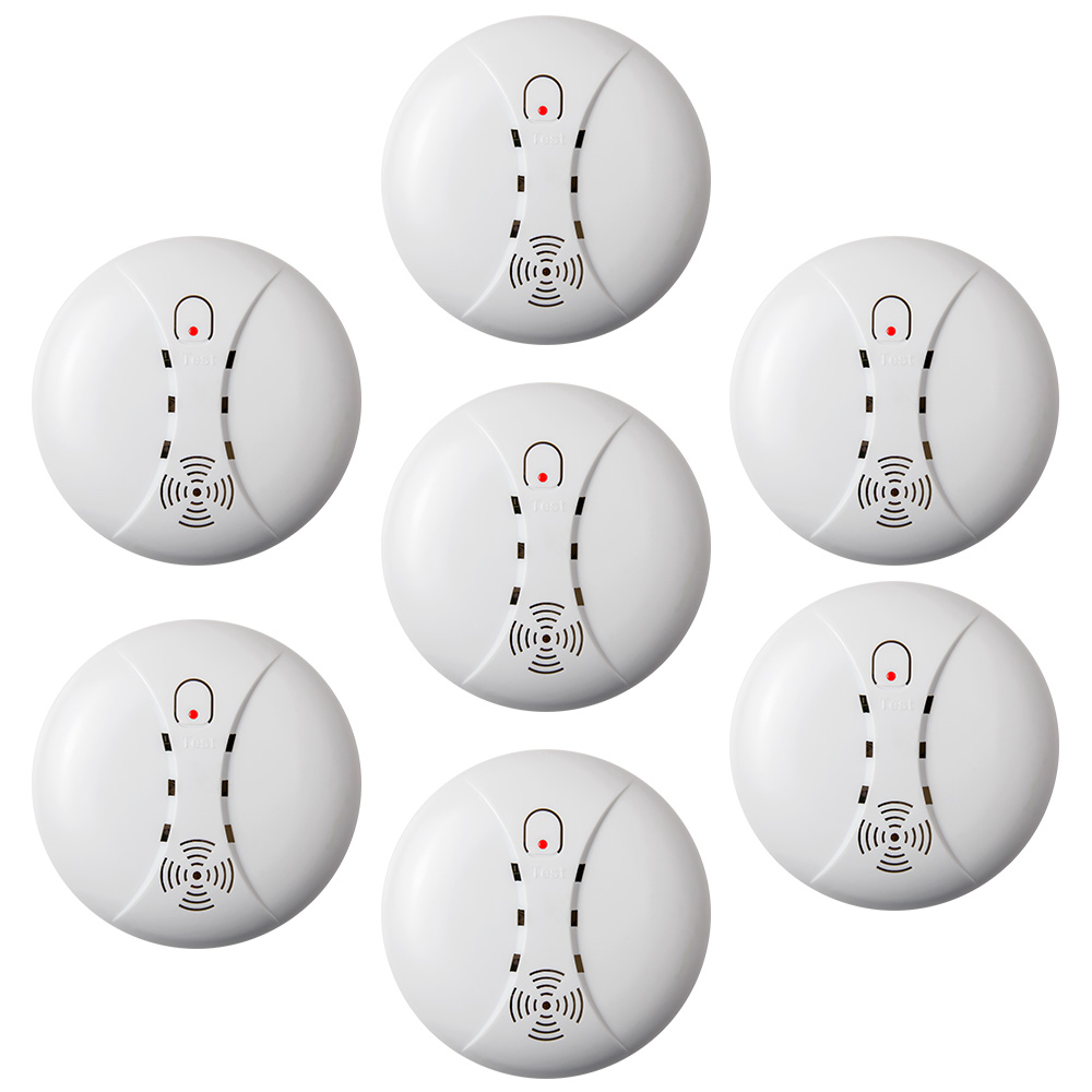 KERUI 7pcs 433MHz High Sensitive Standalone Smoke Detector Fire Alarm Sensor For Indoor Home Safety Garden Security Alarm DC 9V