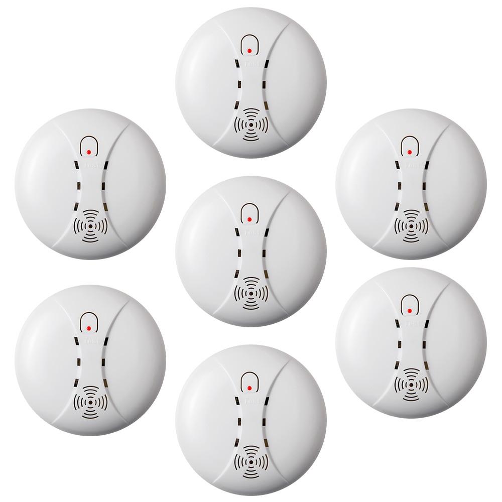 KERUI 7pcs 433MHz High Sensitive Standalone Smoke Detector Fire Alarm Sensor For Indoor Home Safety Garden Security Alarm DC 9V