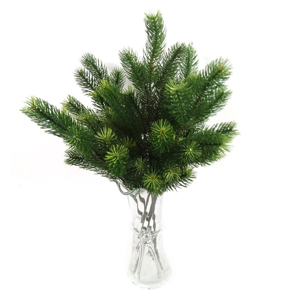 48cm Artificial Plants Pine Branches Christmas Tree Wedding Decorations DIY Handcraft Accessories Children Gift Bouquet-in Artificial & Dried Flowers from Home & Garden