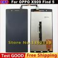 Novo original para oppo x909 find 5 display lcd + digitizer Tela de Toque De Vidro da Tela de toque para OPPO X 909 Find5 + Free grátis