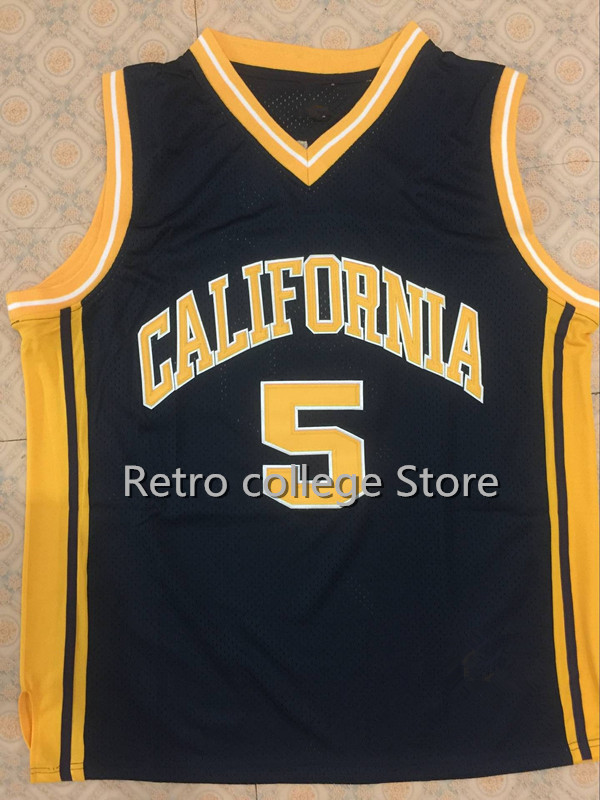 Cheap #5 Jason Kidd California Golden Bears Retro throwback College University Basketball Jersey any Number and name Jerseys