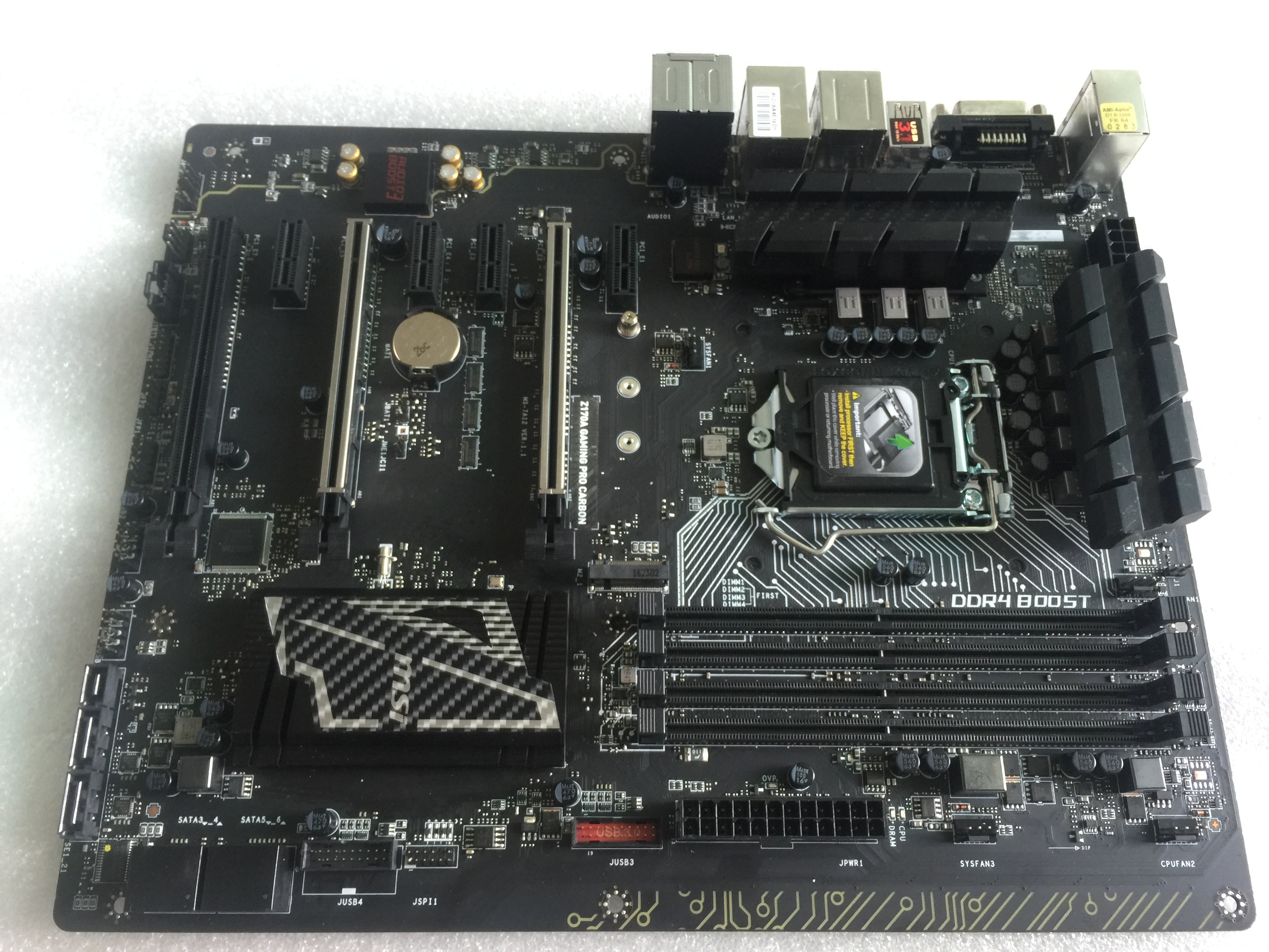 MSI Z170A GAMING PRO CARBON Original Used Desktop Motherboard Socket LGA 1151 ATX ...