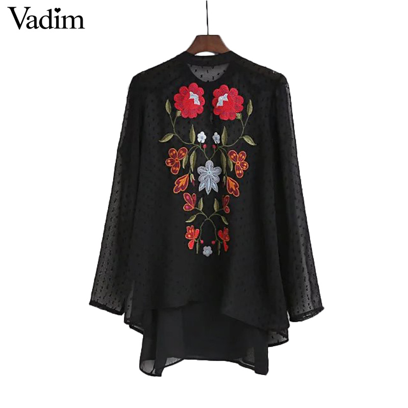 Buy Women Vintage Floral Embroidery