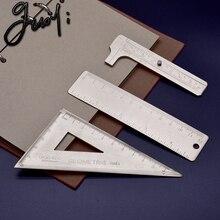 Guoyi Z007 медная линейка, треугольная линейка, штангенциркуль, транспортир, обучающая ручка, для рисования, измерительная, для обучения, для офиса, школы, канцелярские принадлежности